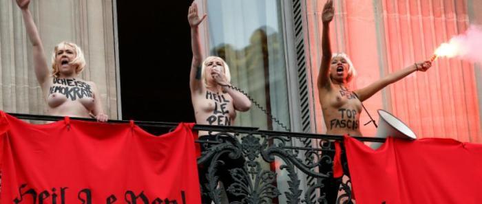 Un salut qui semble inspirer les hystéros Femen
